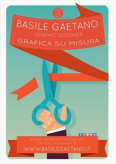 Flyer Gaetano Basile- Sartoria Grafica, grafica fatta su misura..