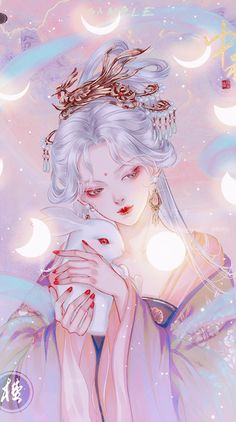 Anime Angel Girl, Anime Art Girl, Korean Art, Asian Art, Pretty Art, Cute Art, Cabelo Rose Gold, Manga Watercolor, Small Canvas Paintings