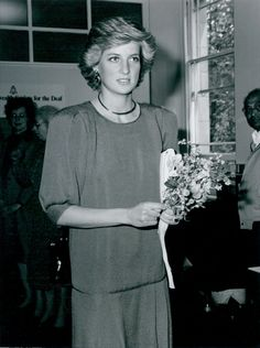 Rare photo...1987-05-26 Diana visits the London Headquarters of the Commonwealth Society for the Deaf