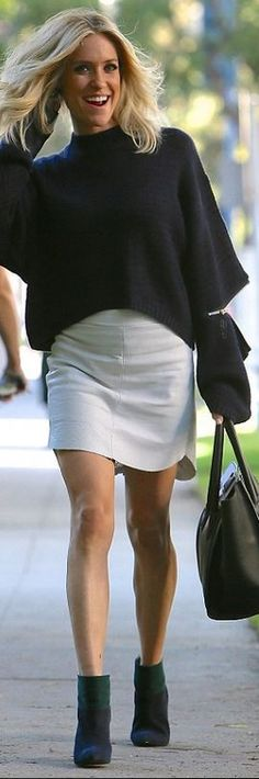 Kristin Cavallari: Sweater – Asilio Fierce Shoes – Chinese Laundry X Kristin Cavallari Purse – Celine