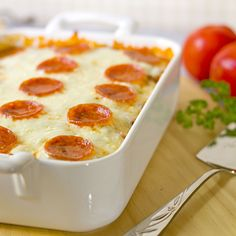 The Midnight Baker: Easy Cheesy Pizza Casserole