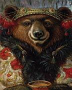 Whimsical portraits of fine creatures by Jayne Siroshton Street Art, Bear Art, Whimsical Art, Bored Panda, Pet Portraits, Pet Birds, Fantasy Art, Illustration Art, Animal Illustrations