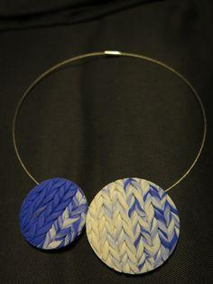 pletený fimo náhrdelník