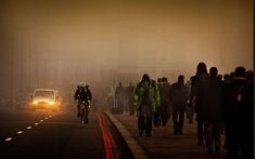 Pedestrians have been warned to walk on inside of the pavement after it emerged that even legal levels of pollution can damage the heart.