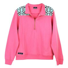 Simply Southern Pullover Pink Baklava Pattern Long Sleeve Sweatshirt Shirt Jacket Sweater