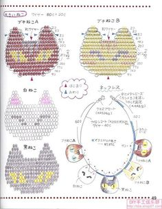 * But really, who doesn't want a beaded cat nacklace? Bead Embroidery Jewelry, Beaded Jewelry Patterns, Beaded Embroidery, Beading Patterns, Beading Projects, Beading Tutorials, Pony Bead Patterns, Beading Techniques, Beaded Animals