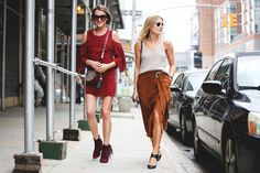 The Most Authentically Inspiring Street Style From New York #refinery29  http://www.refinery29.com/2015/09/93788/ny-fashion-week-spring-2016-street-style-pictures#slide-18  Burnt orange is the new black....