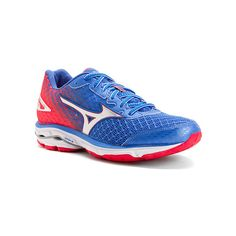 Mizuno Wave Rider 19 ($120) ❤ liked on Polyvore featuring shoes, athletic shoes and women