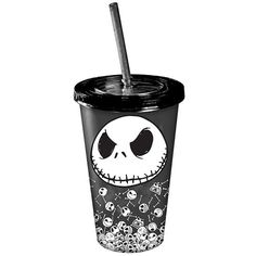 The Nightmare Before Christmas Nightmare Before Christmas Jack... ($9.99) ❤ liked on Polyvore featuring home, kitchen & dining, drinkware, christmas plastic cups, plastic cups, plastic drinkware, xmas cups and christmas cup