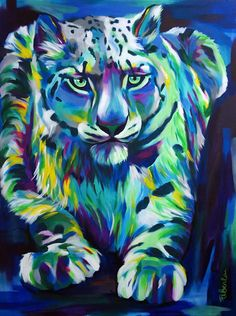 I Layer Up Colors Without Much Planning To Create These Vibrant Portraits Of Animals And People | Bored Panda