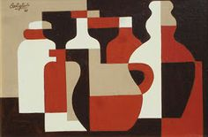 MID-CENTURIA : Art, Design and Decor from the Mid-Century and beyond: José Pedro Costigliolo Paintings II Cubist Artists, Cubism Art, Art And Illustration, Painting Inspiration, Art Inspo, Rhythm Art, Art Deco Cards, Kunst Inspo, Composition Art