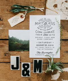 A super modern + cool black and white invitation is pretty easy on the eyes.