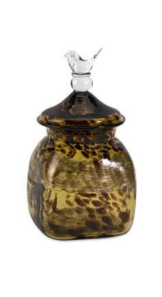 Lyra small amber glass