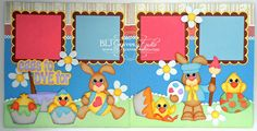 BLJ Graves Studio: Eggs To Dye For - Easter Scrapbook Pages
