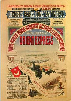 October 4, 1883: First run of the Orient Express. The long-distance luxury train. now the symbol of mystery and intrigue, ran its first complete route from Paris to Istanbul on this date in 1883. (The original train had to stop at Giurgiu, Romania, where travelers were ferried across the Danube to Ruse, Bulgaria, and picked up the journey on another train.)
