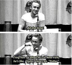 Tom Felton talking about Daniel Radcliffe