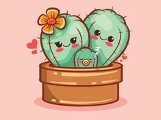 Cactus Cartoon, Family Drawing, Cute Images, Printable Paper, Character Illustration, Cartoon Characters, Cute Art, Stickers, Drawings