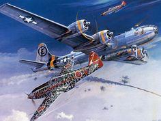 B-29s under attack