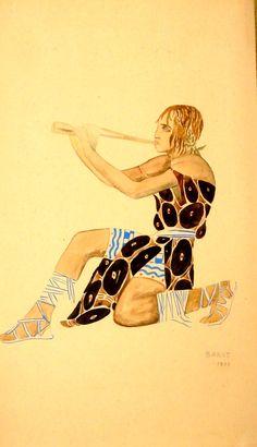Costume design by Leon Bakst for Narcisse, 1911