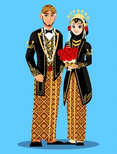 Kartun Orang Jawa Vector