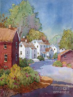 Peonies I Saw In Pennsylvania Painting  - Peonies I Saw In Pennsylvania Fine Art Print