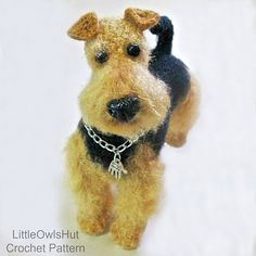 Ravelry: 102 Welsh Terrier dog pattern by LittleOwlsHut