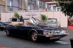 1971 Citroën SM Mylord convertible by Henri Chapron Citroen Ds, Psa Peugeot Citroen, Retro Cars, Vintage Cars, Maserati Sports Car, Touring, Aston Martin, Bugatti, Convertible