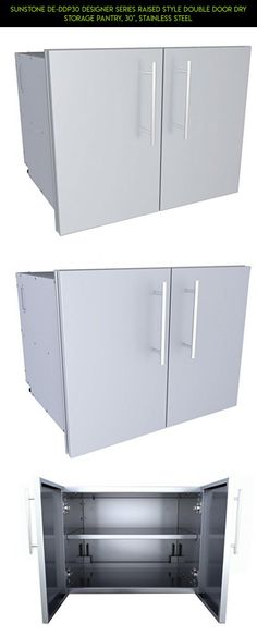 """SUNSTONE DE-DDP30 Designer Series Raised Style Double Door Dry Storage Pantry, 30"""", Stainless Steel #storage #gadgets #shopping #drone #pantry #kit #fpv #racing #camera #plans #parts #tech #technology #products"""