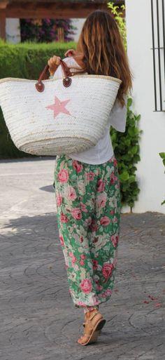flower pants for the beach - mytenida