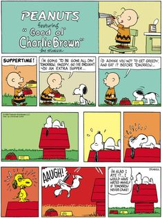 Peanuts: Snoopy on delayed gratification