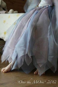 DIY a fairy Skirt with old curtains  OvertheMOon2