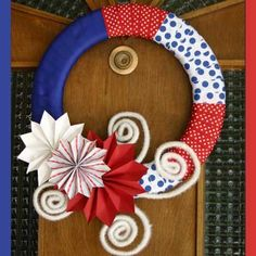 One of 11 Gorgeous 4th of July Wreaths