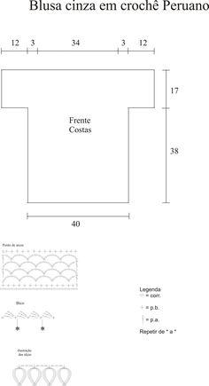 Receitas Círculo - Blusa Crochê Peruano