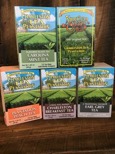Local grown tea from the Charleston Tea Plantation. Mint Tea, Specialty Foods, Gift Bags, South Carolina, Charleston, Drinks, Recipes, Ideas, Peppermint Tea