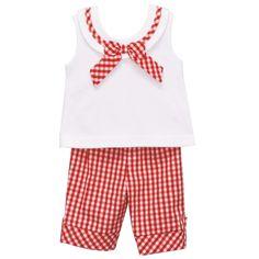 Red Sailor Capri Pant Set - Sales