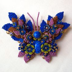 stanley hagler vintage jewelry | Reserved for Lee Vintage Stanley Hagler Hand Beaded Butterfly Very ...