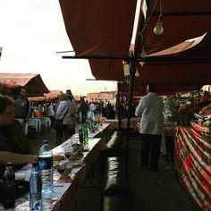 #marrakech Jamaa el Fna food stalls