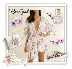 """Floral Rosegal romper"" by kmorena ❤ liked on Polyvore featuring Lollia, Pineider, Roger Vivier, floralprint, romper and rosegal"