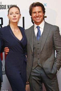 Leading man: Rebecca was joined by star of the film Tom Cruise, who looked smart in a grey. Hollywood Actor, Hollywood Actresses, Actors & Actresses, Rebecca Fergusson, Rebecca Ferguson Actress, Sweden Stockholm, Swedish Actresses, Actrices Hollywood, Famous Girls
