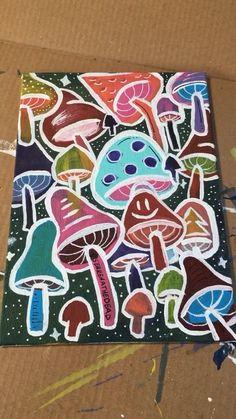 Diy Art Painting, Psychedelic Art, Hippie Painting, Amazing Art Painting, Mini Canvas Art, Diy Canvas Art Painting, Painting Art Projects, Canvas Painting, Diy Canvas Art