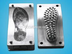 Here is the metal shoe mold making samples by CNC mold making machine, the CNC mold making machine with automatic tool changer is a type of user-friendly mold making machine especially for metal mold making