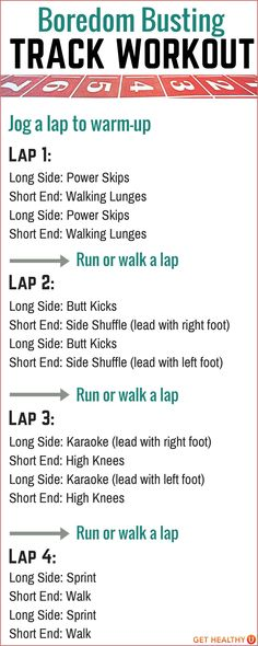 How To Use A Track For A Workout - Get Healthy U
