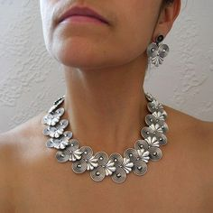 Necklace & Earrings | Hector Aguilar Original Molds ~ now made by Avil Sterling, Sterling Silver
