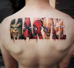 Except no hulk or wolverine. Replace one with Captain America and the other with Rocket Raccoon. Keep Deadpool, iron man, and spider-man. And on my left thigh.
