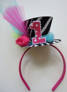 Madhatter Birthday Party Hat by alphabulous on Etsy Mad Hatter Party, Mad Hatter Tea, Mad Hatters, Birthday Party Hats, First Birthday Parties, Birthday Ideas, Festa Monster High, Mad Tea Parties, Sweet Sixteen Parties