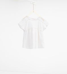 Image 1 of Loose-fit embroidered blouse from Zara