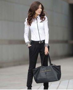 Hot Sell White Women Shirt Sexy Ol Women Fashion Turn-Down Collar Shrug Bubble Long Sleeve Slim Cotton Shirt Blouse Top