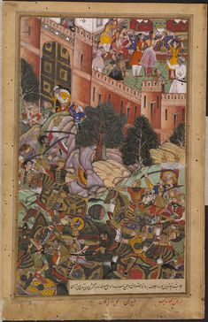The flight of Baz Bahadur, Governor of Malwa, when defeated by the imperial troops led by Adham Khan in 1561