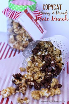 I Dig Pinterest: Copycat Harry & David Moose Munch with Mason Jar Gift Option
