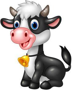 Cow #manualidadesinfantiles Pěkné Komiksy, Jednoduché Kresby, Omalovánky, Grafika, Kreslené Filmy, Roztomilé Děti, Appliques, Šablony